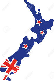 New Zealand mapped with Union Jack colours
